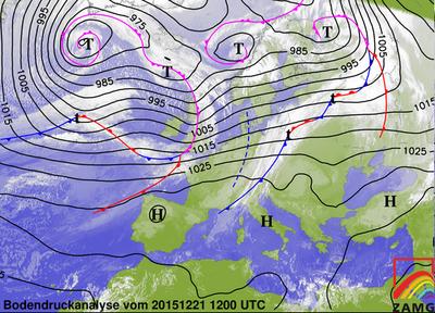 Bodendruckanalyse 21.12.15, 12 UTC