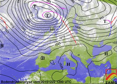Bodendruckanalyse 22.12.15, 12 UTC