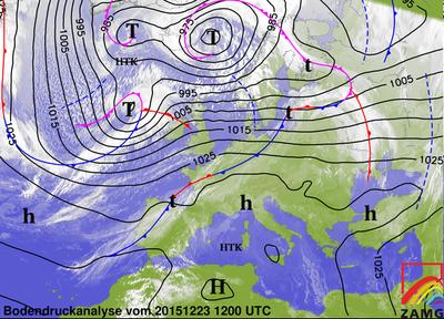 Bodendruckanalyse 23.12.15, 12 UTC