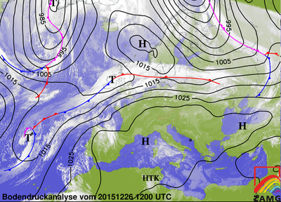 Bodendruckanalyse 26.12.15, 12 UTC