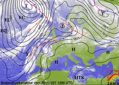Bodendruckanalyse 27.12.15, 12 UTC