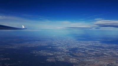 Blick nach Nordost Mit EDDS und Stuttgart beim Rückflug in FL 200