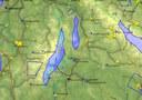 Wellenvorhersage mit Flugspur, 28.1.18