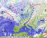 ZAMG Bodenkarte, 18 UTC